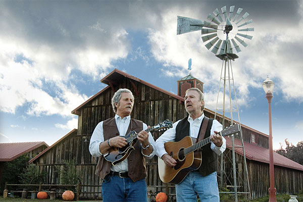 Chris Hillman (left) and Herb Pedersen