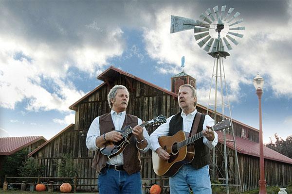 Chris Hillman (left) and Herb Pedersen